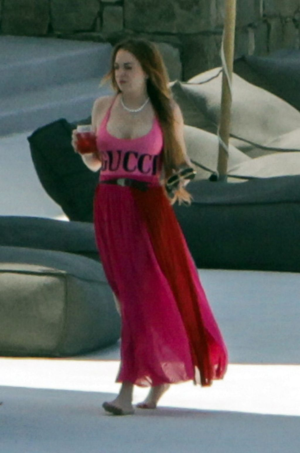 Lindsay Lohan Gucci Swimsuit  Pics Holder Collector Of -6291